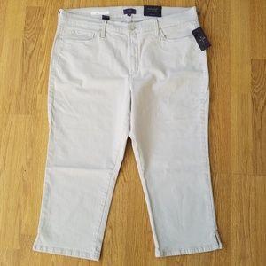 NYDJ denim capri jeans pants grey